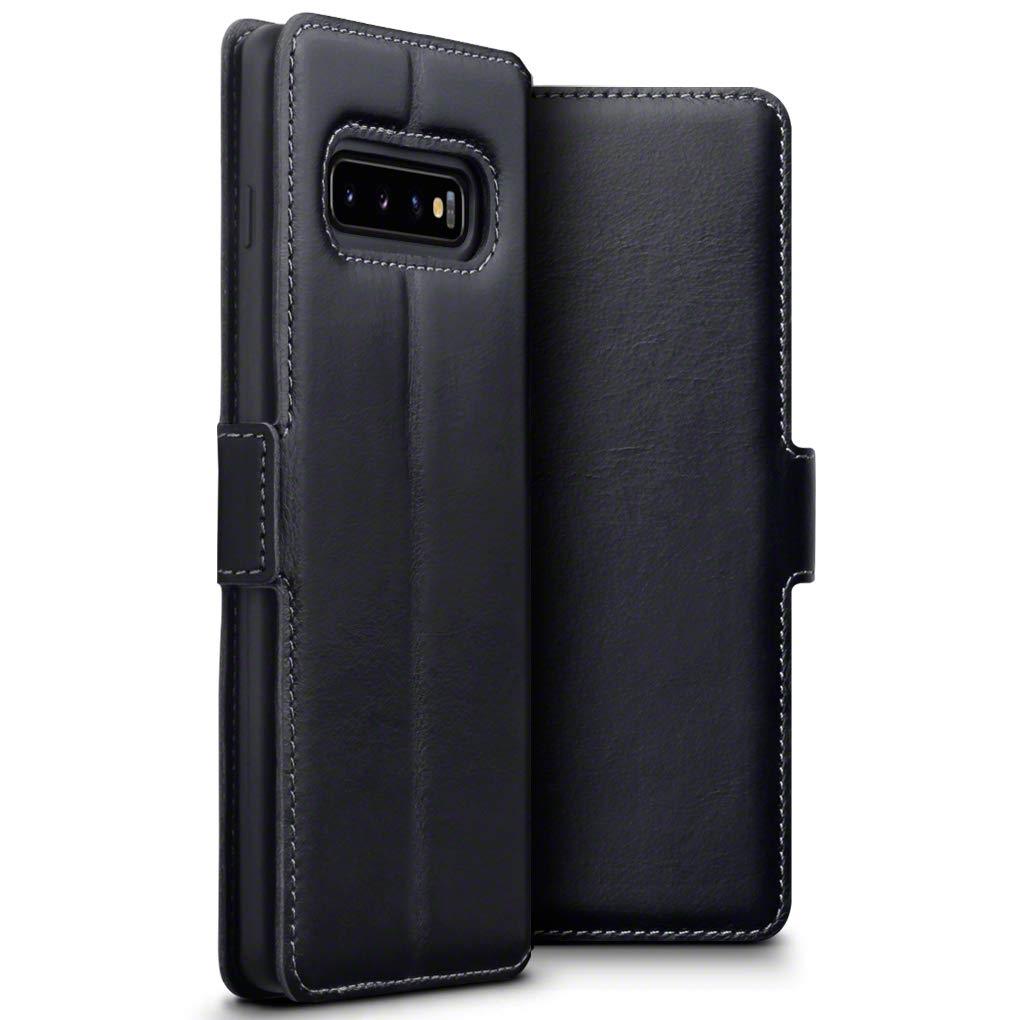 Terrapin Low Profile Δερμάτινη Θήκη - Πορτοφόλι Samsung Galaxy S10 Plus - Black (117-002a-111)