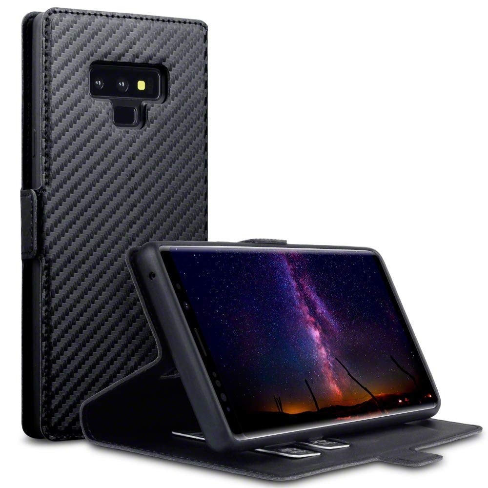 Terrapin Low Profile Θήκη - Πορτοφόλι Samsung Galaxy Note 9 - Black Carbon Fibre (117-002a-080)