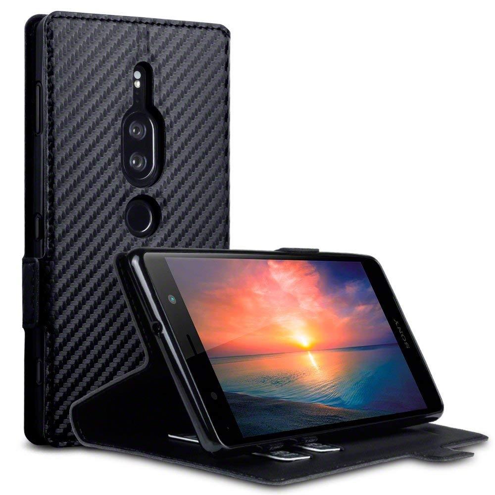 Terrapin Low Profile Θήκη - Πορτοφόλι Carbon Fibre Sony Xperia XZ2 Premium - Black (117-005-637)