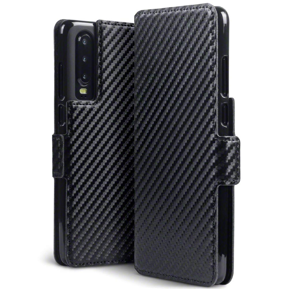 Terrapin Θήκη - Πορτοφόλι Huawei P30 - Black Carbon Fibre (117-083-216)