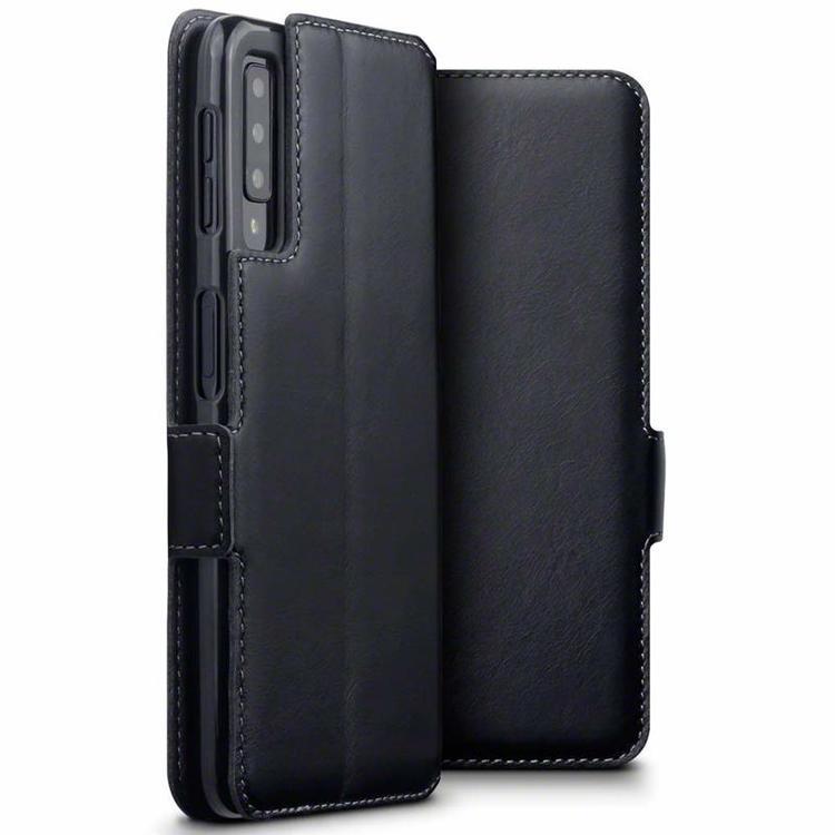 Terrapin Low Profile Δερμάτινη Θήκη - Πορτοφόλι Samsung Galaxy A7 2018 - Black (117-002a-087)
