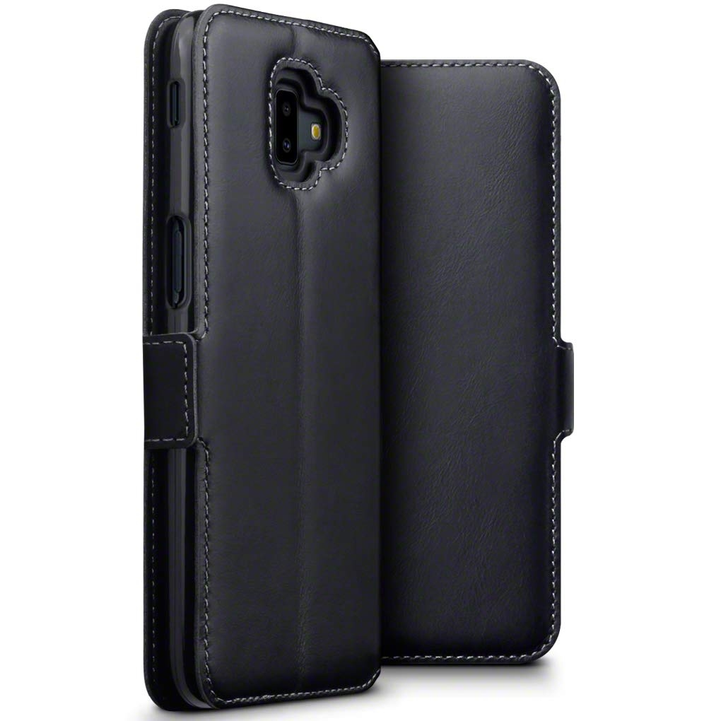 Terrapin Low Profile Δερμάτινη Θήκη - Πορτοφόλι Samsung Galaxy J6 Plus 2018 - Black (117-002a-096)