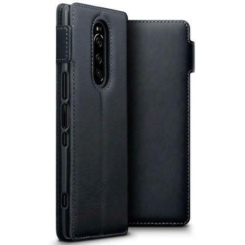 Terrapin Low Profile Δερμάτινη Θήκη - Πορτοφόλι Sony Xperia 1 - Black (117-005-656)