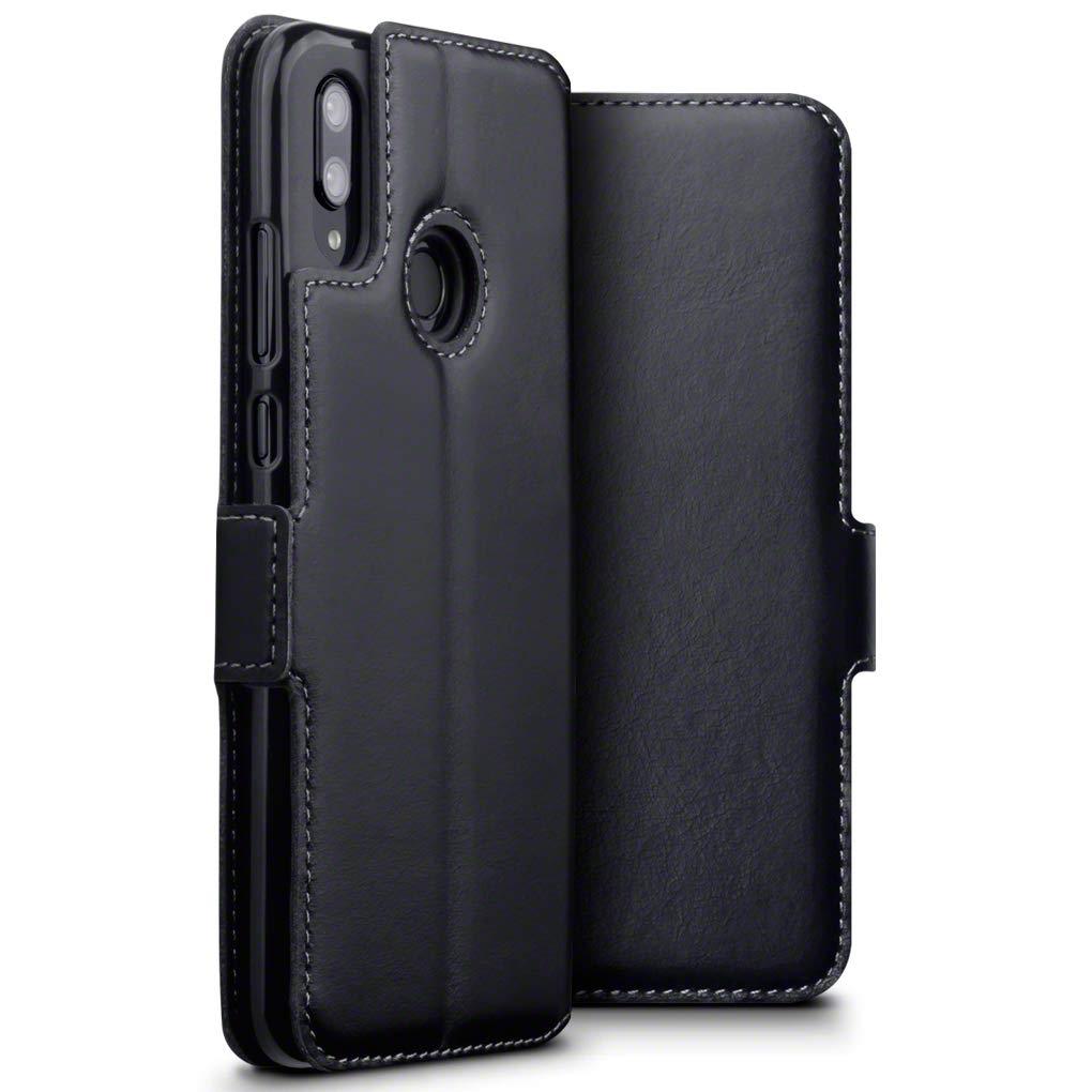 Terrapin Low Profile Δερμάτινη Θήκη - Πορτοφόλι Huawei P Smart 2019 - Black (117-083-208)