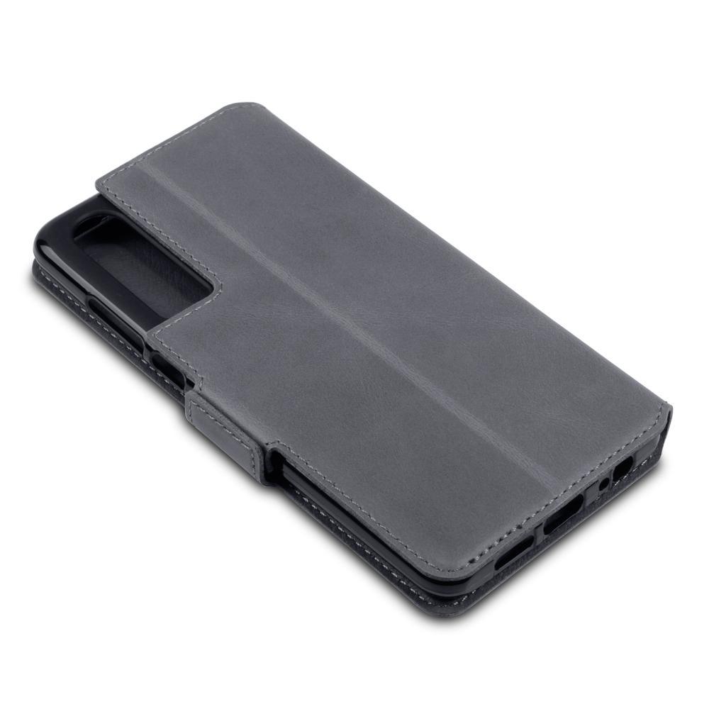 Terrapin Δερμάτινη Θήκη - Πορτοφόλι Huawei P30 - Grey (117-083-213)