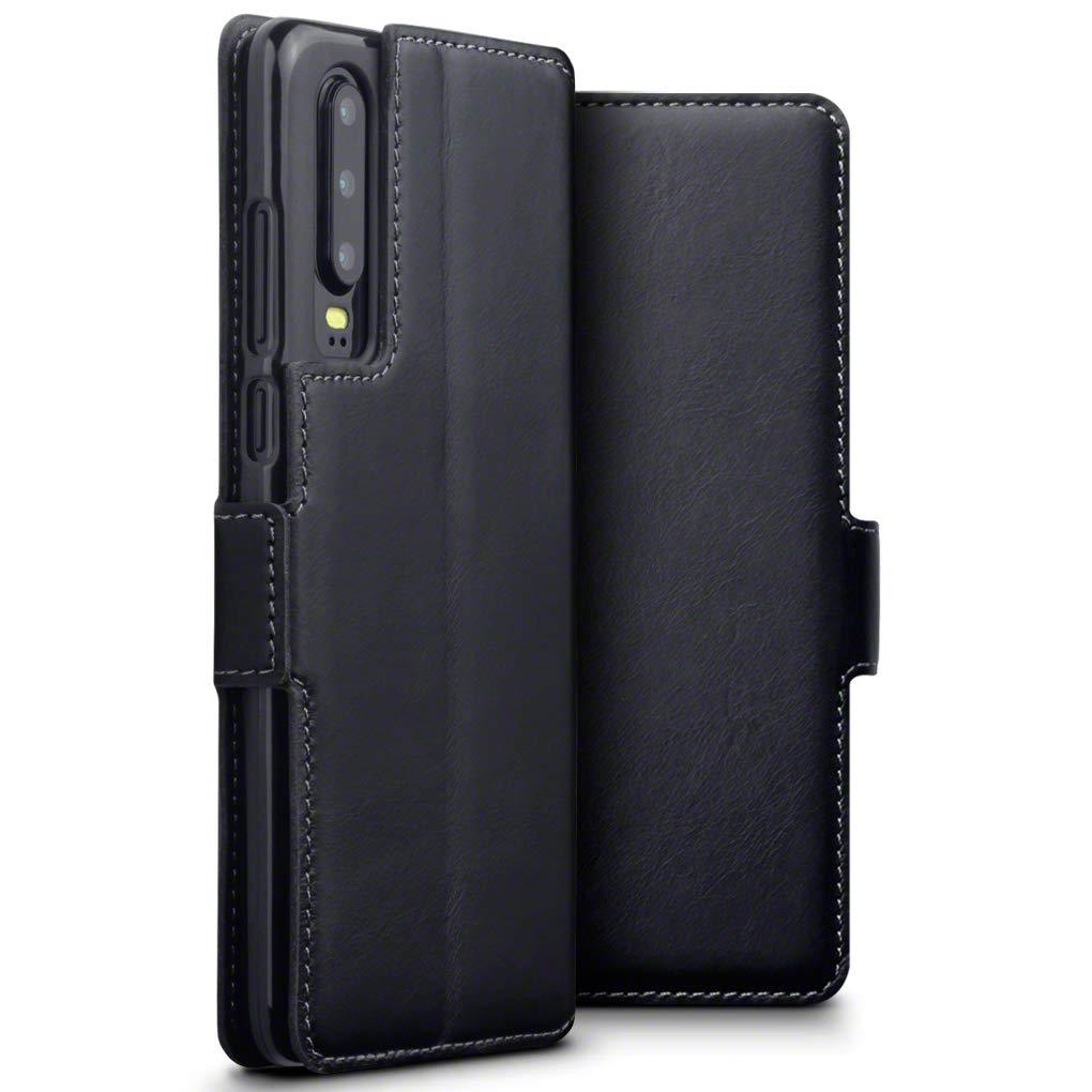Terrapin Δερμάτινη Θήκη - Πορτοφόλι Huawei P30 - Black (117-083-211)
