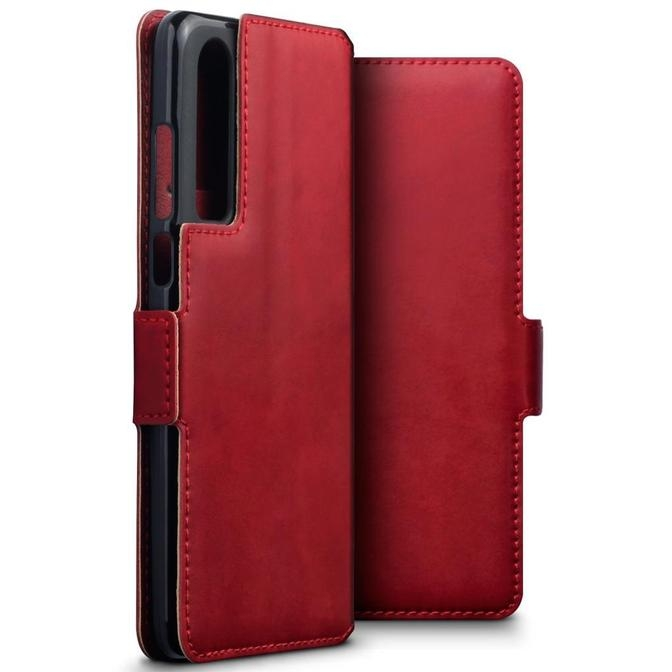 Terrapin Δερμάτινη Θήκη - Πορτοφόλι Huawei P30 - Red (117-083-214)