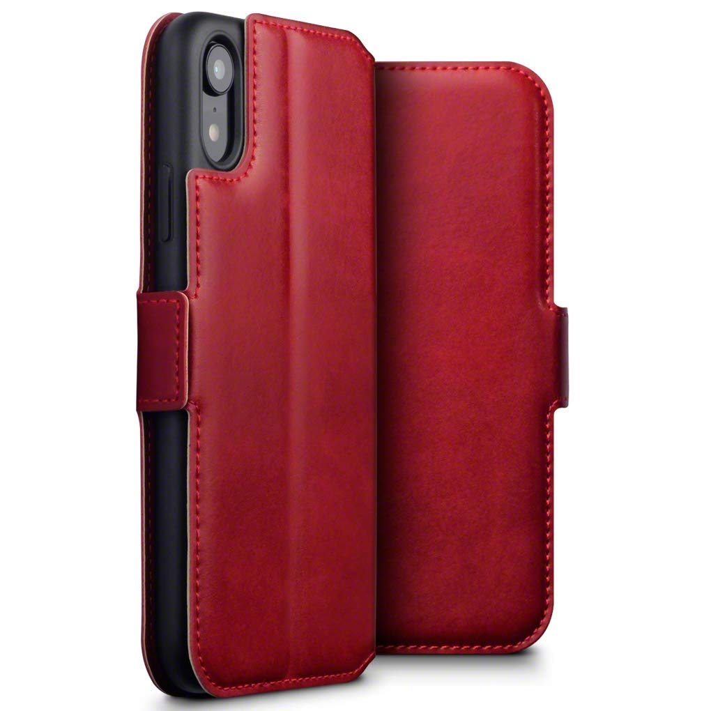 Terrapin Low Profile Δερμάτινη Θήκη - Πορτοφόλι iPhone XR - Red (117-127-005)