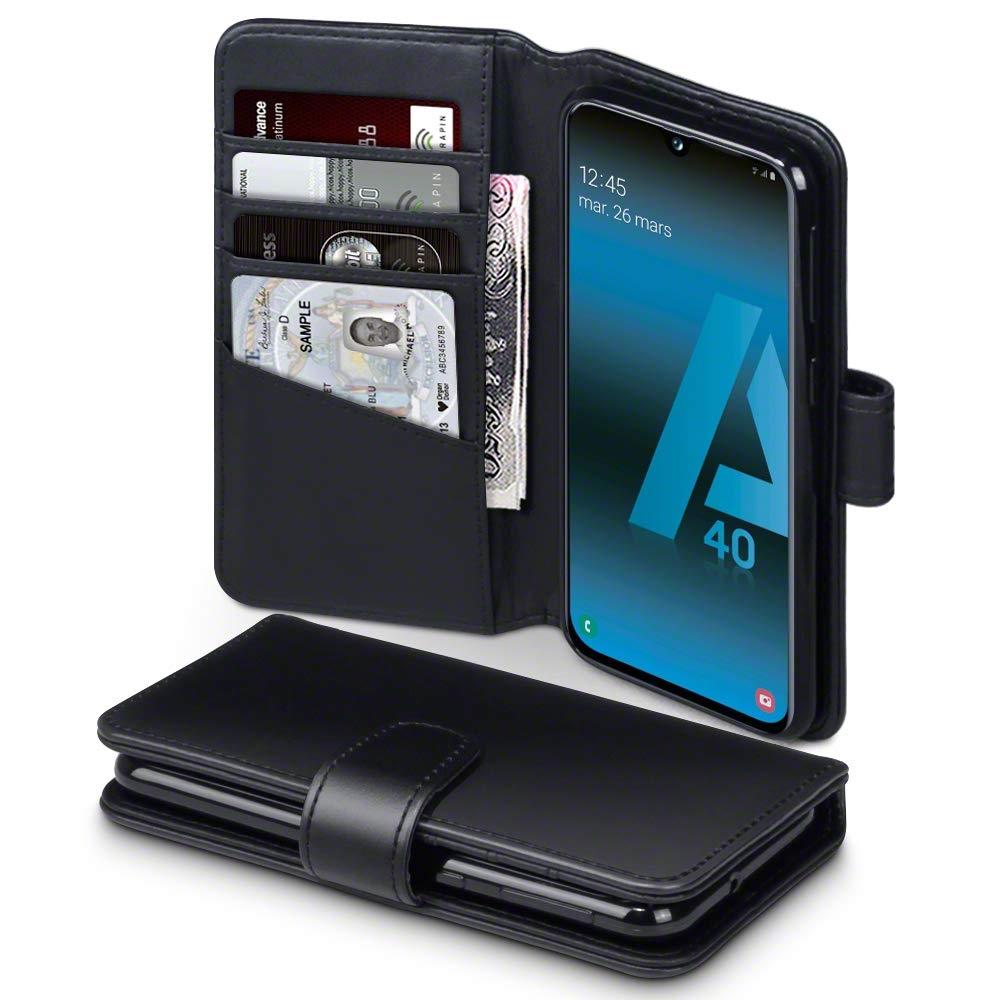 Terrapin Δερμάτινη Θήκη - Πορτοφόλι Samsung Galaxy A40 - Black (117-002a-145)