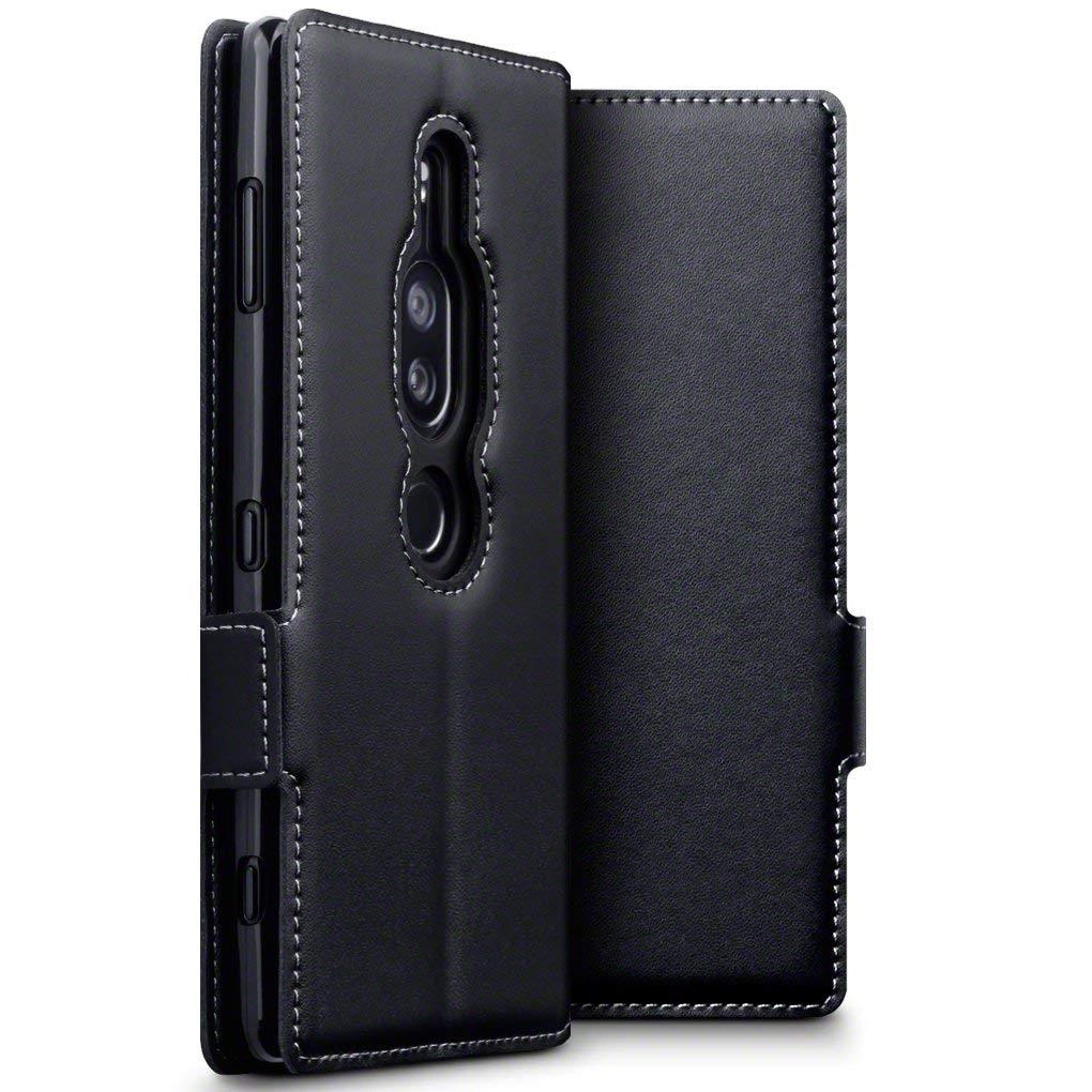 Terrapin Low Profile Δερμάτινη Θήκη - Πορτοφόλι Sony Xperia XZ2 Premium - Black (117-005-633)