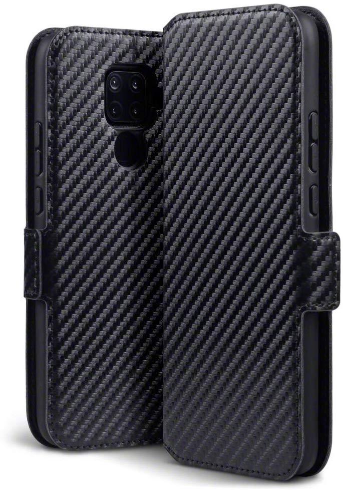 Terrapin Low Profile Θήκη - Πορτοφόλι Carbon Fibre Huawei Mate 30 Lite - Black (117-083-240)