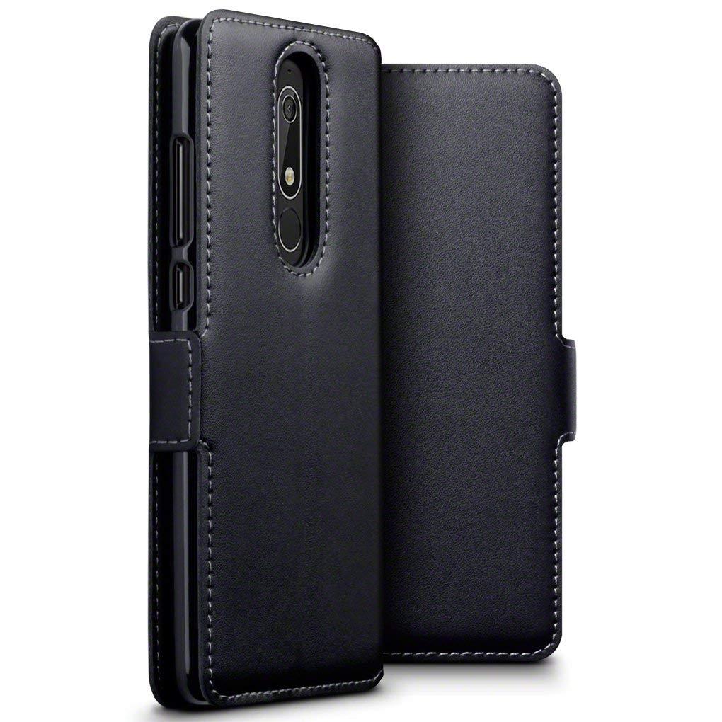 Terrapin Low Profile Δερμάτινη Θήκη - Πορτοφόλι Nokia 5.1 - Black (117-001-293)