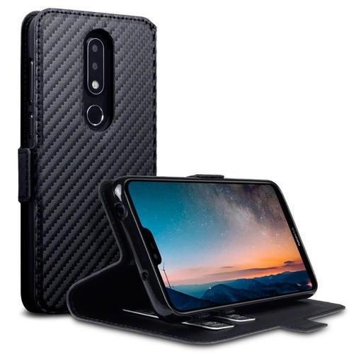 Terrapin Low Profile Θήκη - Πορτοφόλι Nokia 6.1 Plus - Black (117-001-310)