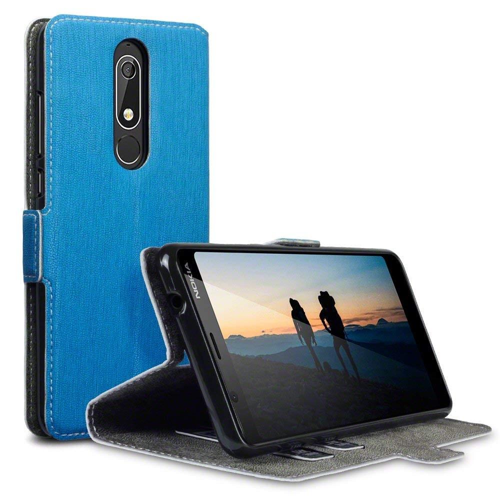 Terrapin Θήκη - Πορτοφόλι Nokia 5.1 - Light Blue (117-001-296)