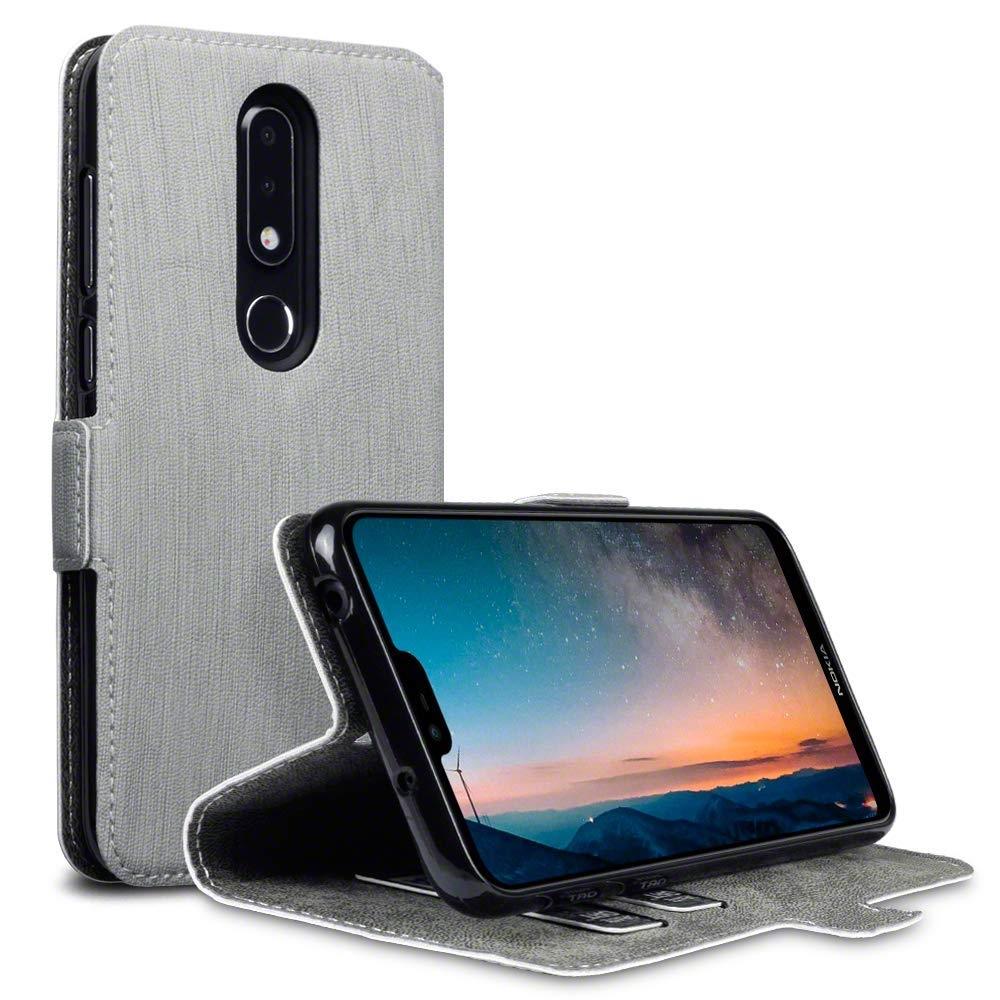 Terrapin Θήκη - Πορτοφόλι Nokia 6.1 Plus - Grey (117-001-309)
