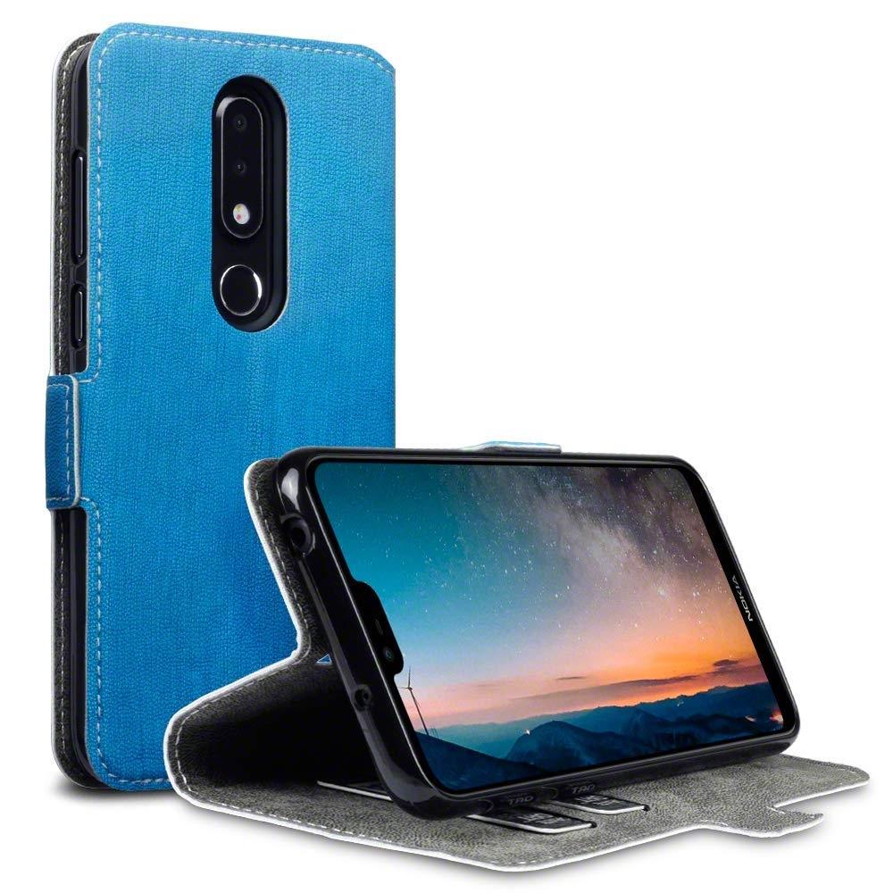 Terrapin Θήκη - Πορτοφόλι Nokia 6.1 Plus - Light Blue (117-001-308)