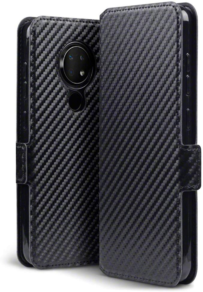 Terrapin Low Profile Θήκη - Πορτοφόλι Carbon Fibre Nokia 6.2/7.2 - Black (117-001-325)