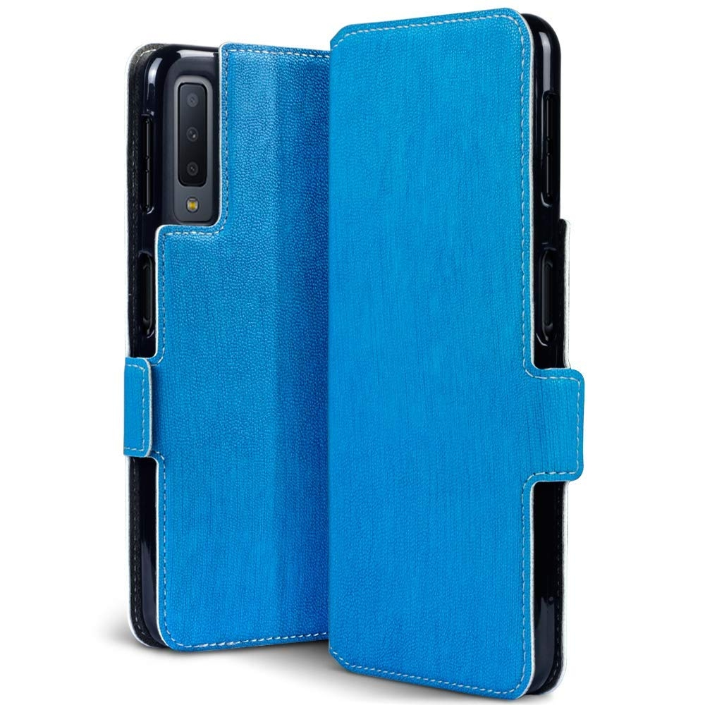 Terrapin Low Profile Θήκη - Πορτοφόλι Samsung Galaxy A7 2018 - Light Blue (117-002a-090)