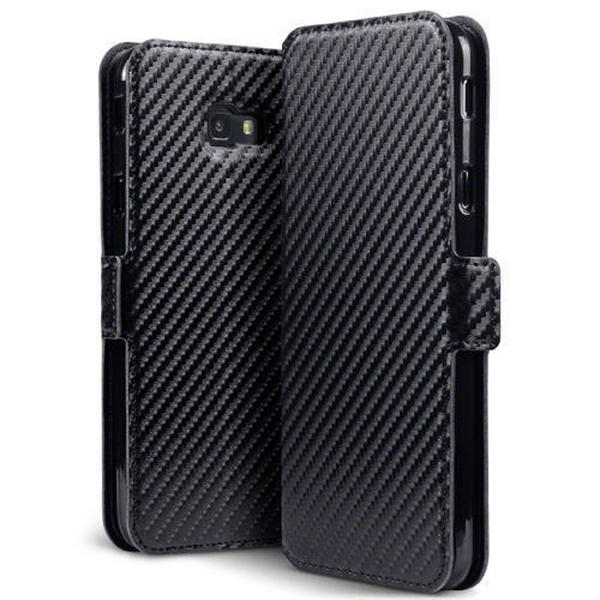 Terrapin Low Profile Θήκη - Πορτοφόλι Carbon Fibre Samsung Galaxy J4 Plus 2018 - Black (117-002a-095)