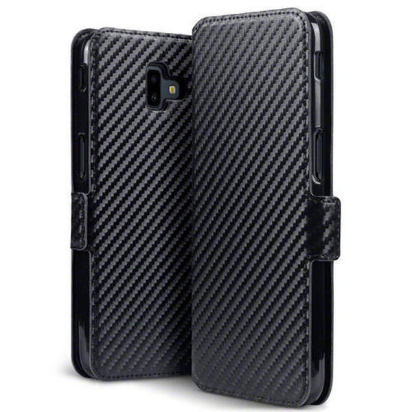 Terrapin Low Profile Θήκη - Πορτοφόλι Carbon Fibre Samsung Galaxy J6 Plus 2018 - Black (117-002a-098)