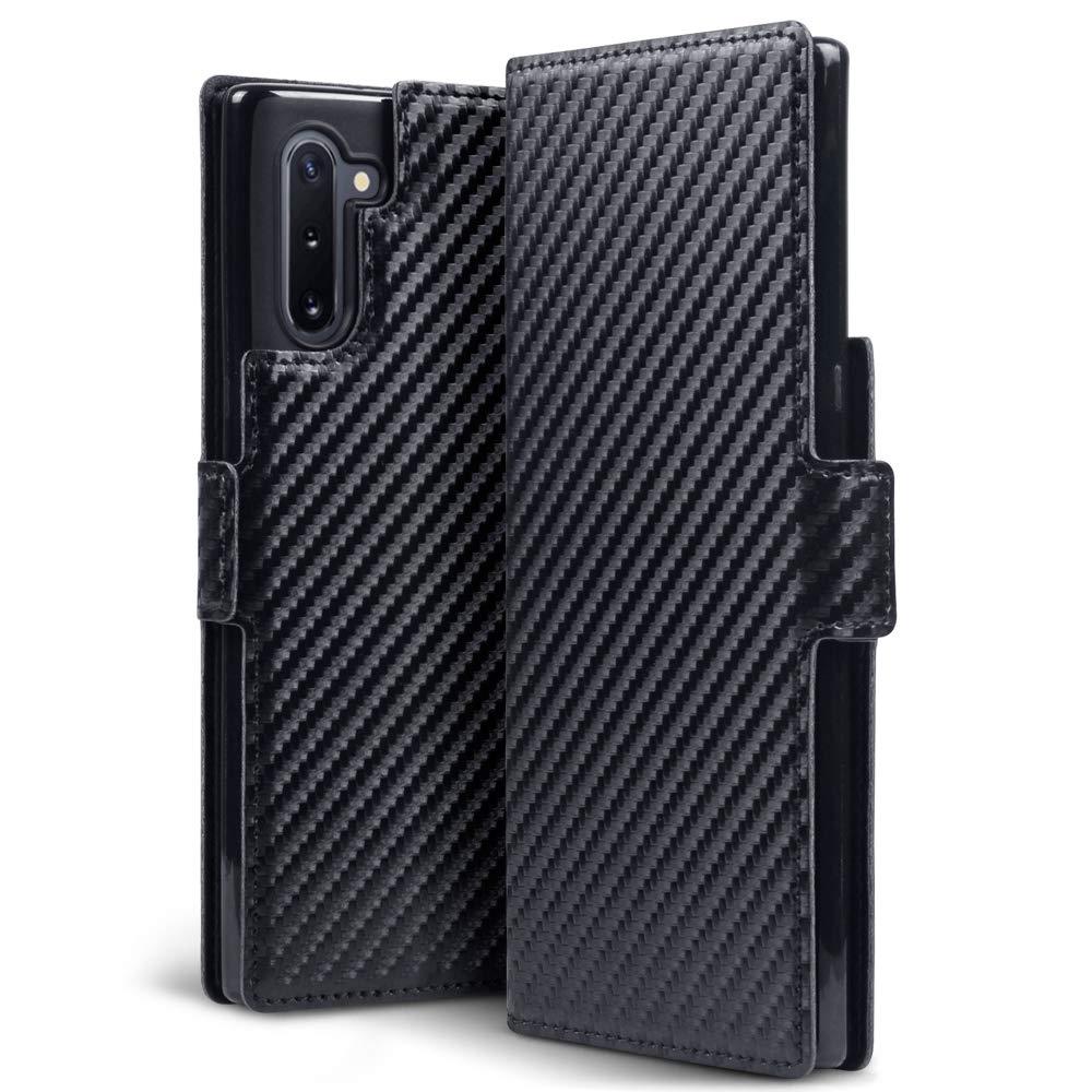 Terrapin Low Profile Θήκη - Πορτοφόλι Carbon Fibre Samsung Galaxy Note 10 - Black (117-002a-181)