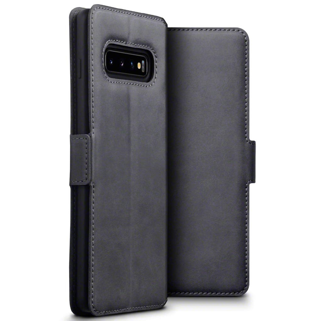 Terrapin Low Profile Δερμάτινη Θήκη - Πορτοφόλι Samsung Galaxy S10 Plus - Grey (117-002a-113)