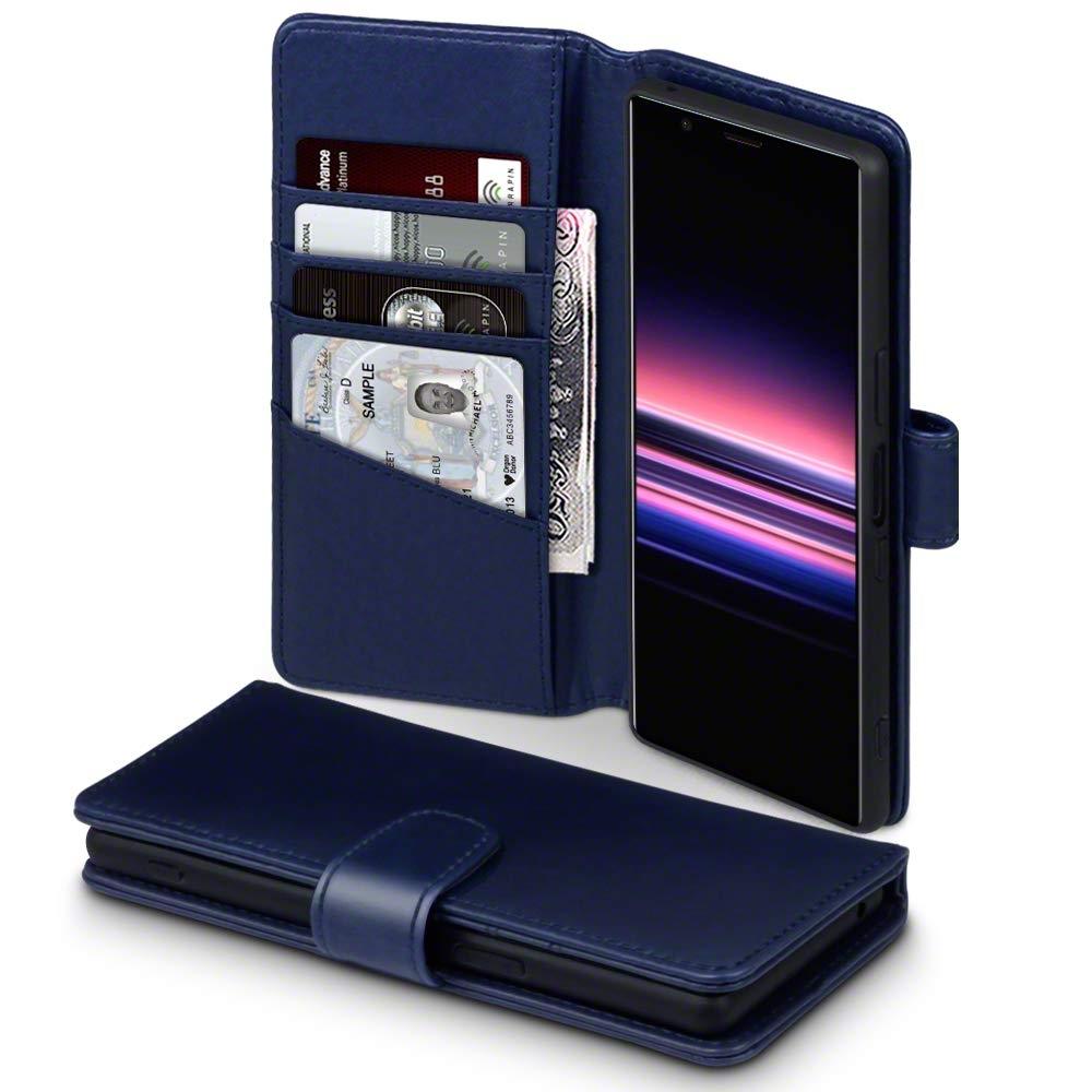 Terrapin Δερμάτινη Θήκη - Πορτοφόλι Sony Xperia 5 - Blue (117-005-679)