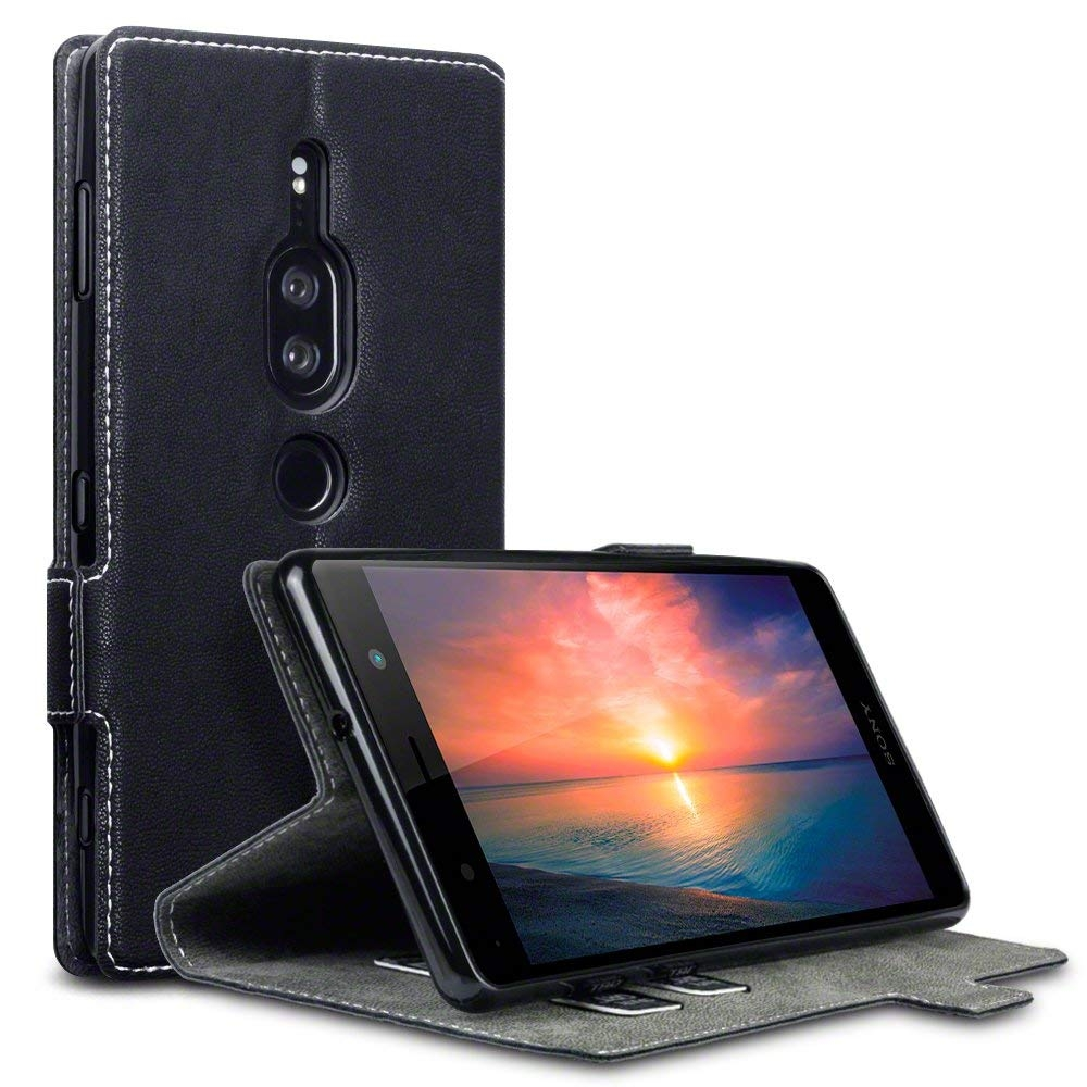 Terrapin Low Profile Θήκη - Πορτοφόλι Sony Xperia XZ2 Premium - Black (117-005-635)