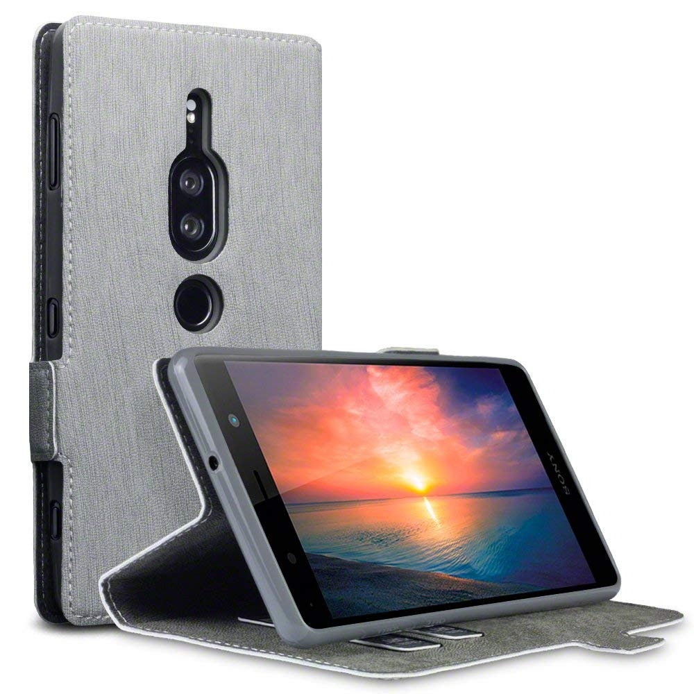 Terrapin Low Profile Θήκη - Πορτοφόλι Sony Xperia XZ2 Premium - Grey (117-005-636)
