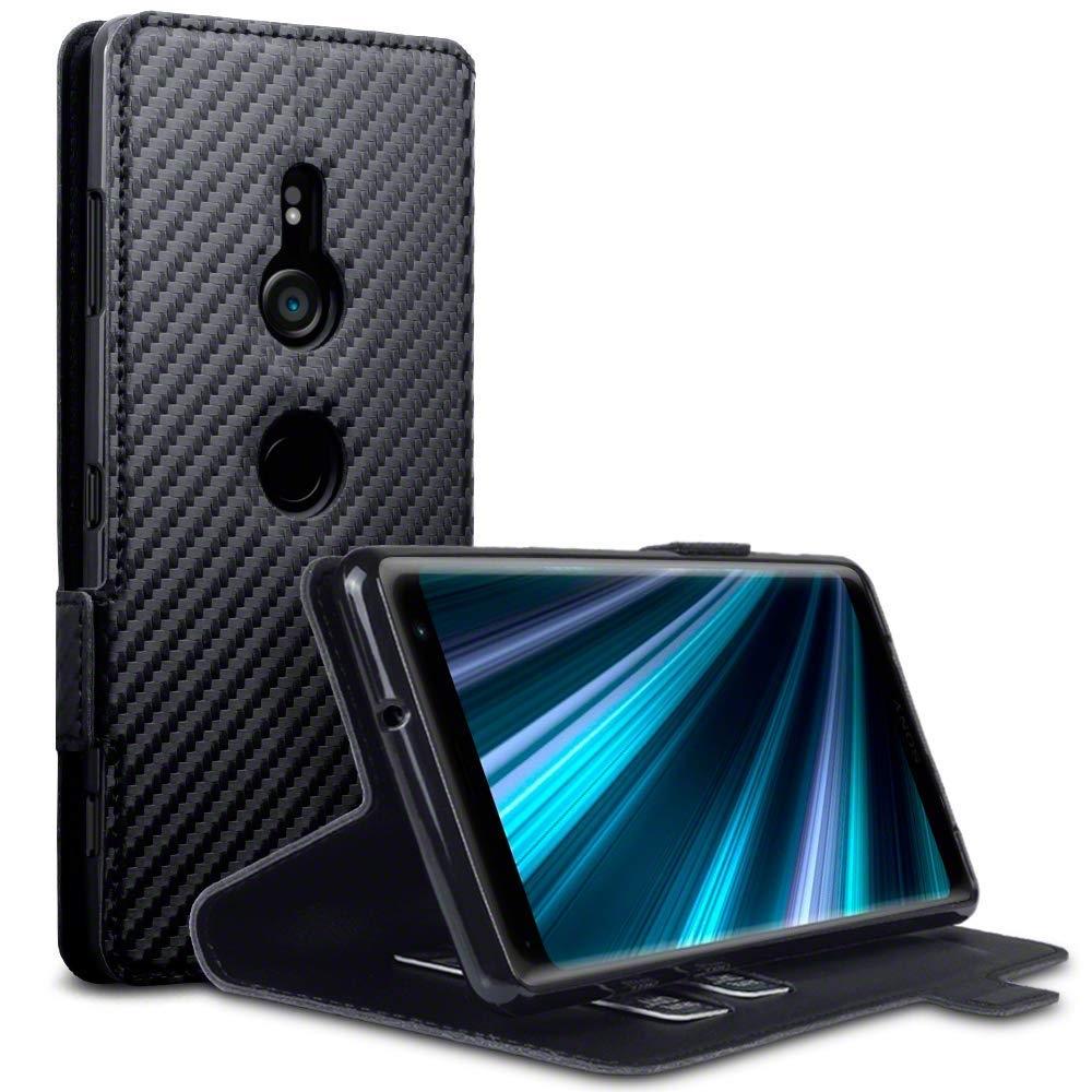 Terrapin Low Profile Θήκη - Πορτοφόλι Carbon Fibre Sony Xperia XZ3 - Black (117-005-643)