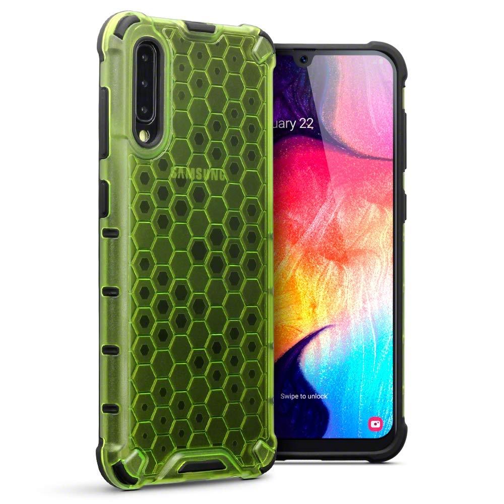 Terrapin Ανθεκτική Θήκη Honeycomb Hard Shell Samsung Galaxy A50 - Fluorescent Green (130-002-076)