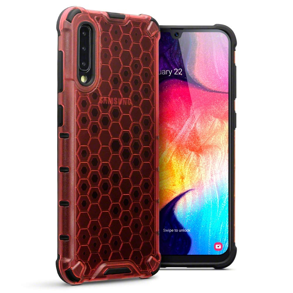 Terrapin Ανθεκτική Θήκη Honeycomb Hard Shell Samsung Galaxy A50 - Red (130-002-077)