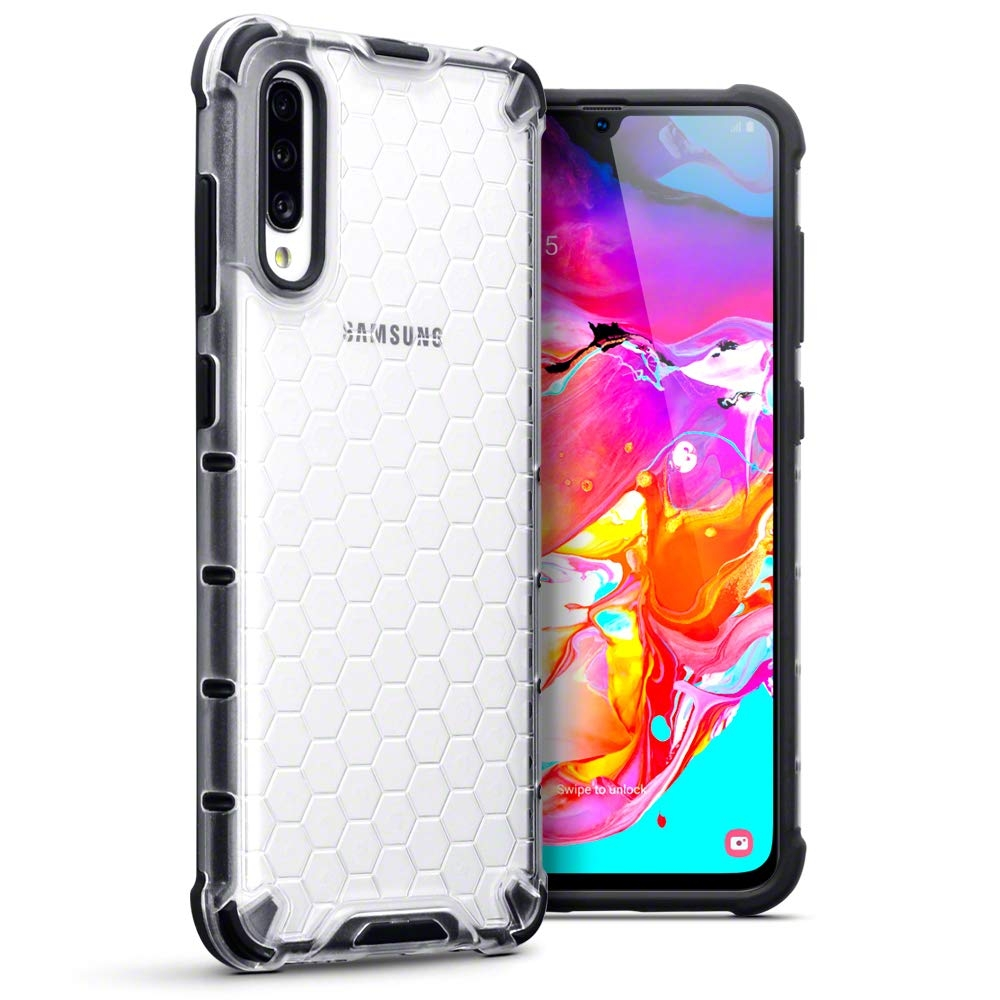 Terrapin Ανθεκτική Θήκη Honeycomb Hard Shell Samsung Galaxy A70 - Clear (130-002-080)
