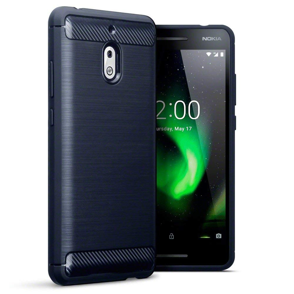 Terrapin Θήκη Σιλικόνης Carbon Fibre Design Nokia 2.1 - Dark Blue (118-001-275)