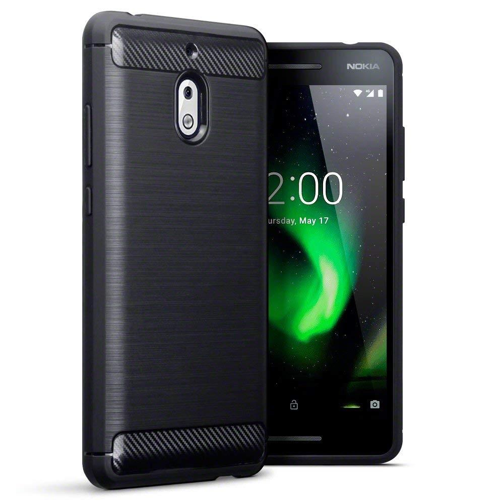 Terrapin Θήκη Σιλικόνης Carbon Fibre Design Nokia 2.1 - Black (118-001-274)