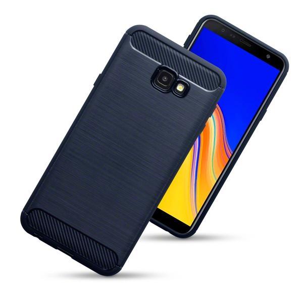 Terrapin Θήκη Σιλικόνης Carbon Fibre Samsung Galaxy J4 Plus 2018 - Blue (118-002-734)