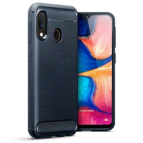 Terrapin Θήκη Σιλικόνης Carbon Fibre Samsung Galaxy A20e - Dark Blue (118-002-780)