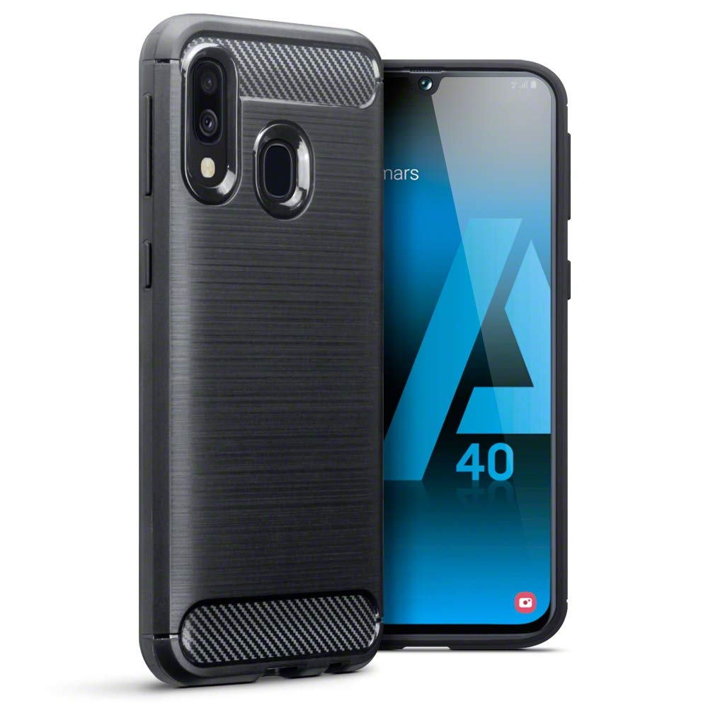 Terrapin Θήκη Σιλικόνης Carbon Fibre Design Samsung Galaxy A40 - Black (118-002-764)