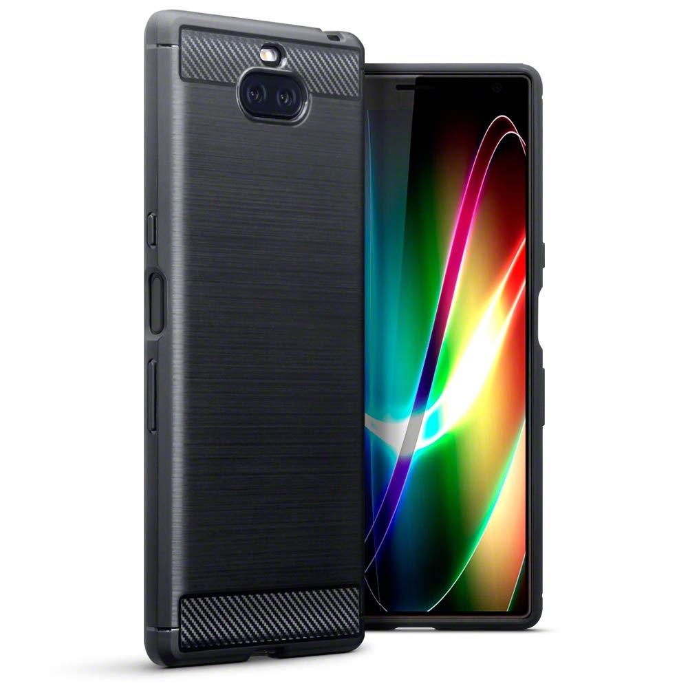 Terrapin Θήκη Σιλικόνης Carbon Fibre Design Sony Xperia 10 Plus - Black (118-005-496)