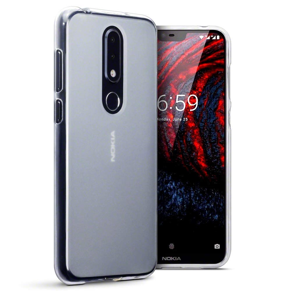 Terrapin Ημιδιάφανη Θήκη Σιλικόνης Nokia 6.1 Plus - Clear (118-001-277)