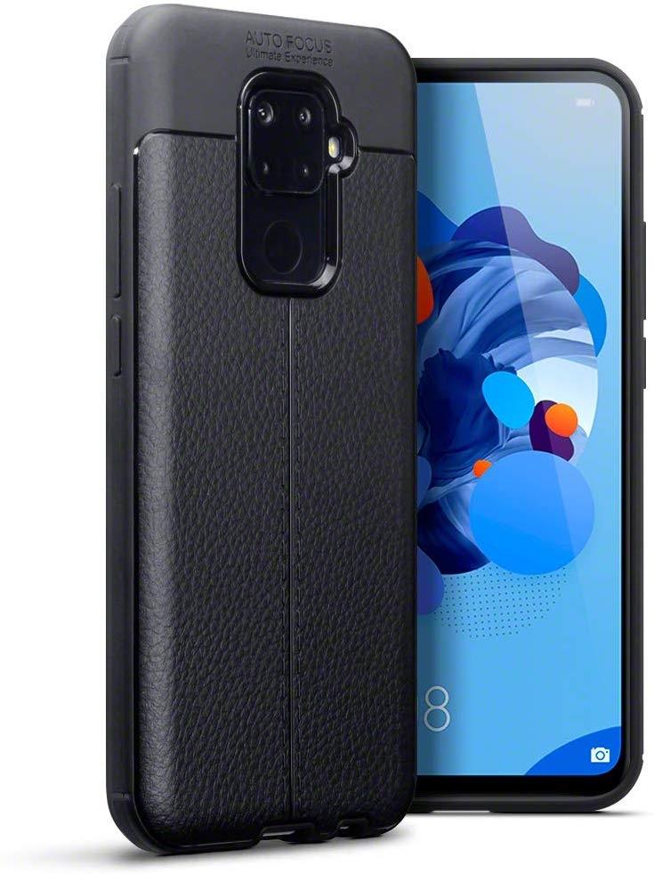 Terrapin Θήκη TPU Leather Design Huawei Mate 30 Lite - Black (118-083-214)