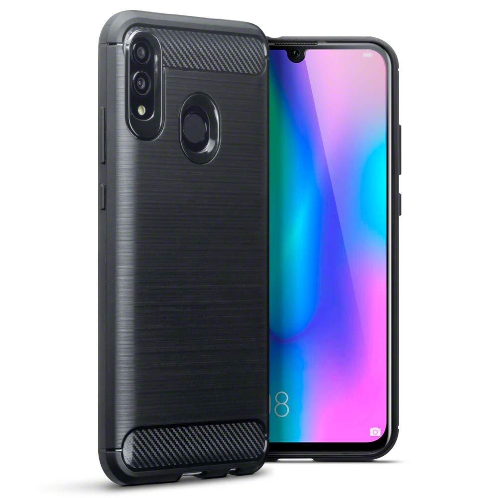 Terrapin Θήκη Σιλικόνης Carbon Fibre Design Huawei P Smart 2019 - Black (118-083-201)