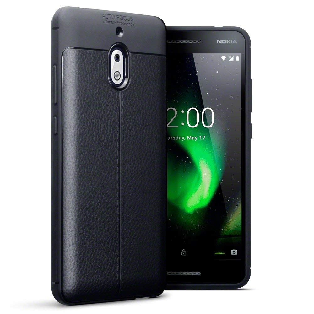 Terrapin Θήκη TPU Leather Design Nokia 2.1 - Black (118-001-276)
