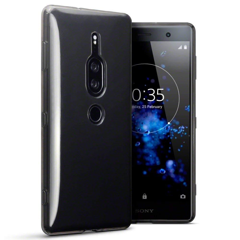Terrapin Ημιδιάφανη Θήκη Σιλικόνης Sony Xperia XZ2 Premium - Smoke Black (118-005-477)