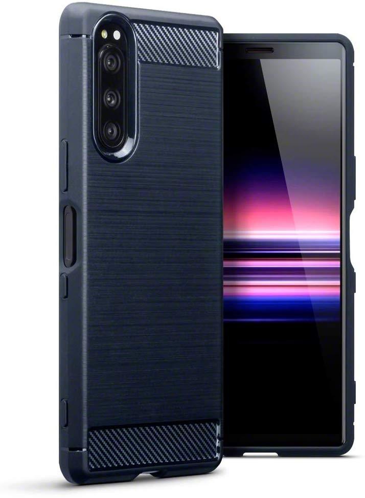 Terrapin Θήκη Σιλικόνης Carbon Fibre Sony Xperia 5 - Blue (118-005-510)