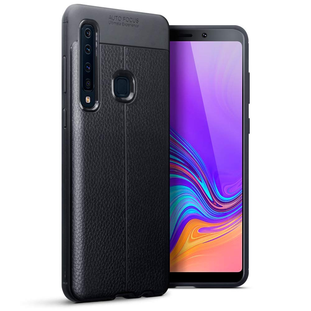 Terrapin Θήκη TPU Leather Design Samsung Galaxy A9 2018 - Black (118-002-725)