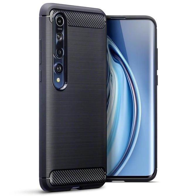 Terrapin Θήκη Σιλικόνης Carbon Fibre Xiaomi Mi 10 / Mi 10 Pro - Black (118-121-003)