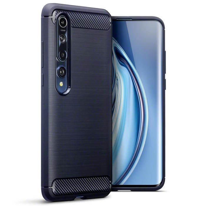 Terrapin Θήκη Σιλικόνης Carbon Fibre Xiaomi Mi 10 / Mi 10 Pro - Blue (118-121-004)