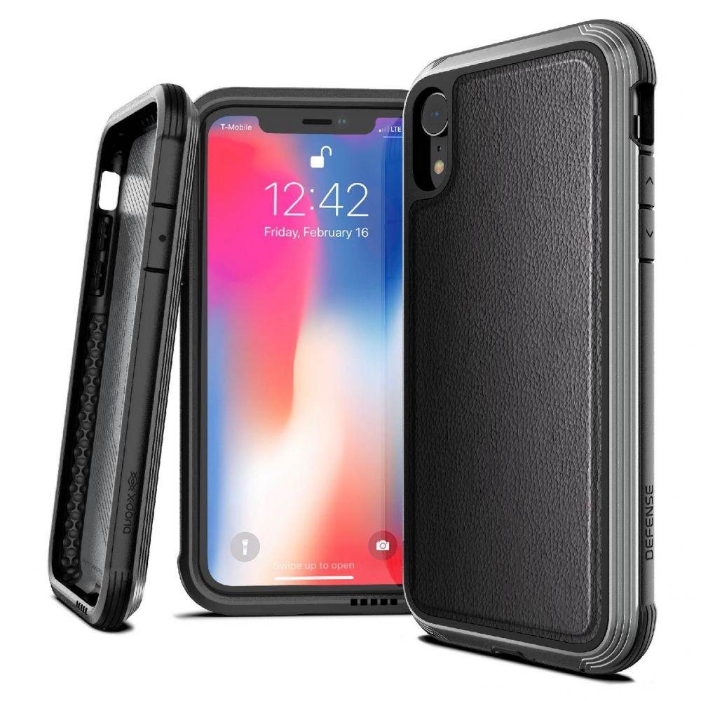 X-Doria Defense Lux Θήκη iPhone XR - Black Leather (3X3C0552B)