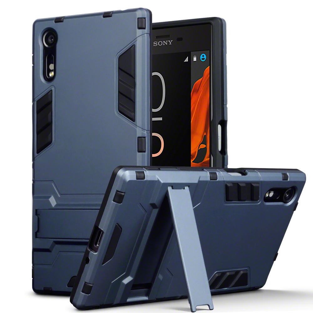 Terrapin Ανθεκτική Θήκη με Stand Sony Xperia XZ/ XZs - Dark Blue (131-005-026)